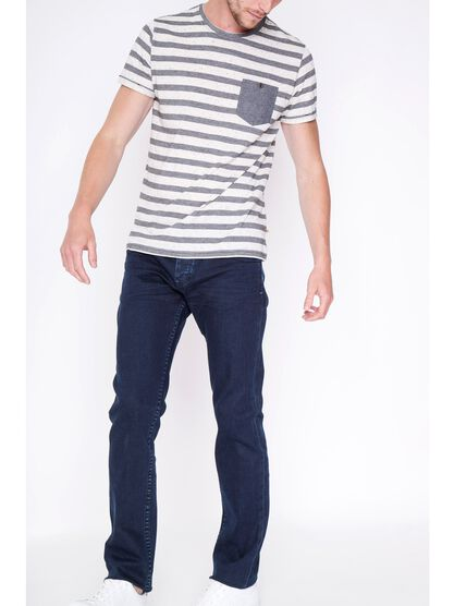 jeans homme straight denim brut