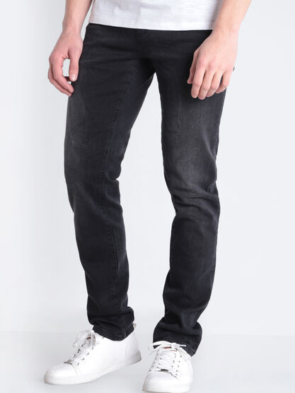 Jeans slim ultra stretch denim noir homme