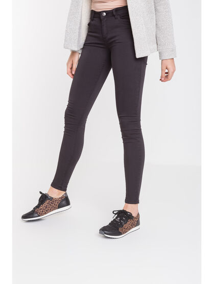 Pantalon skinny taille normale gris fonce femme