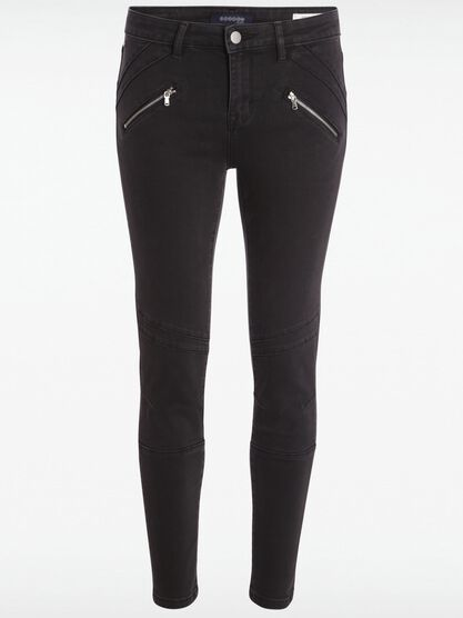 jeans skinny femme taille normale stone denim noir