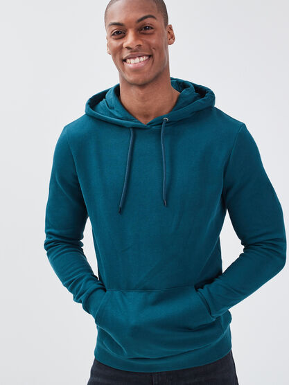 Sweat manches longues vert canard homme