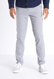 Pantalon chino 4 poches gris fonce homme