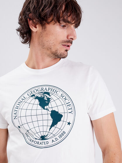 T shirt National Geographic ecru homme