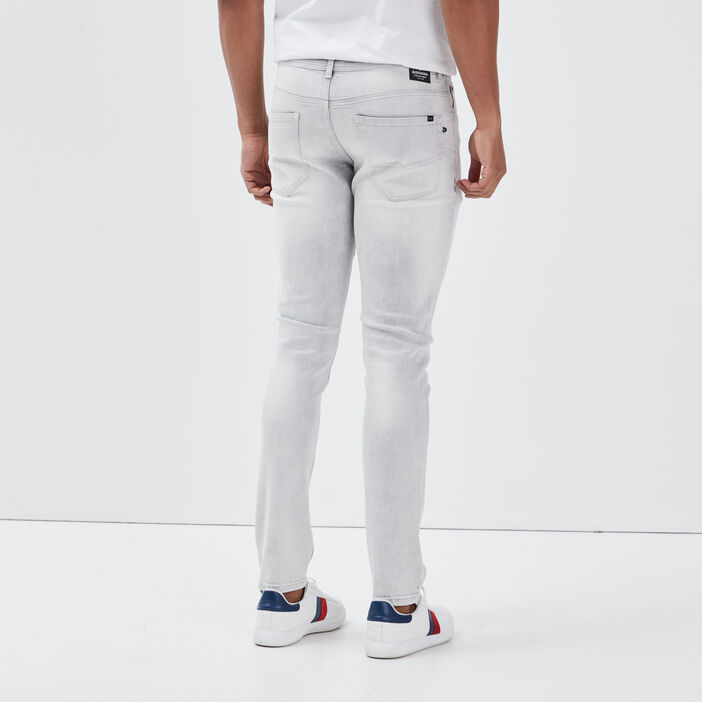 Jeans skinny 5 poches denim snow gris homme
