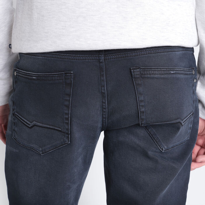 Jeans regular denim gris homme