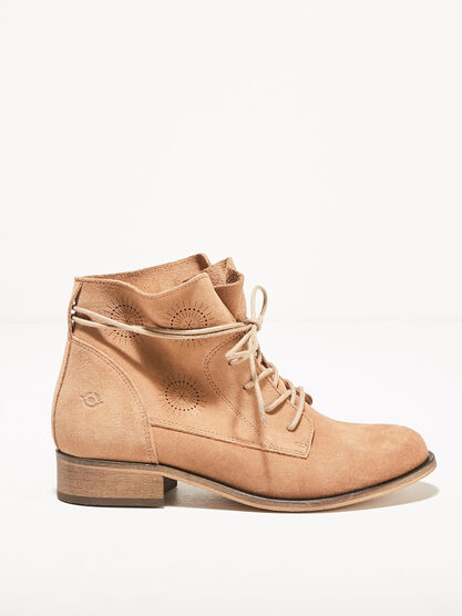 Bottines plates a lacets ronds marron femme