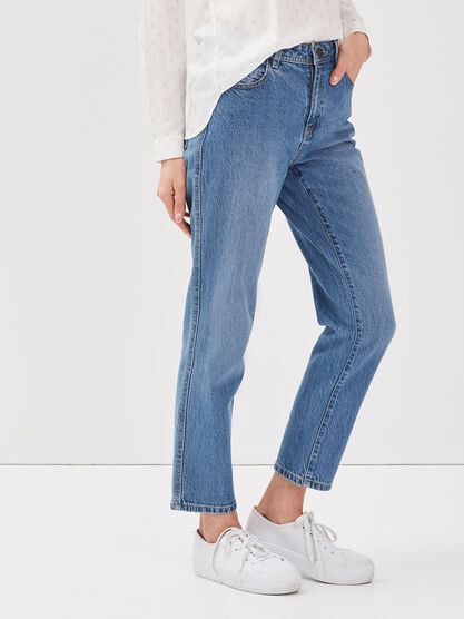 Jeans straight denim used femme