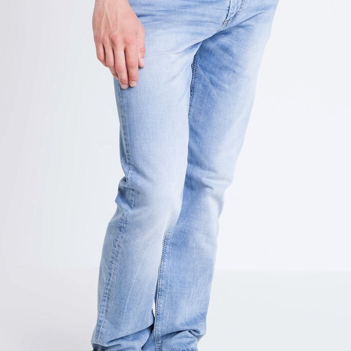 Jeans straight homme used L32 DENIM BLEACH