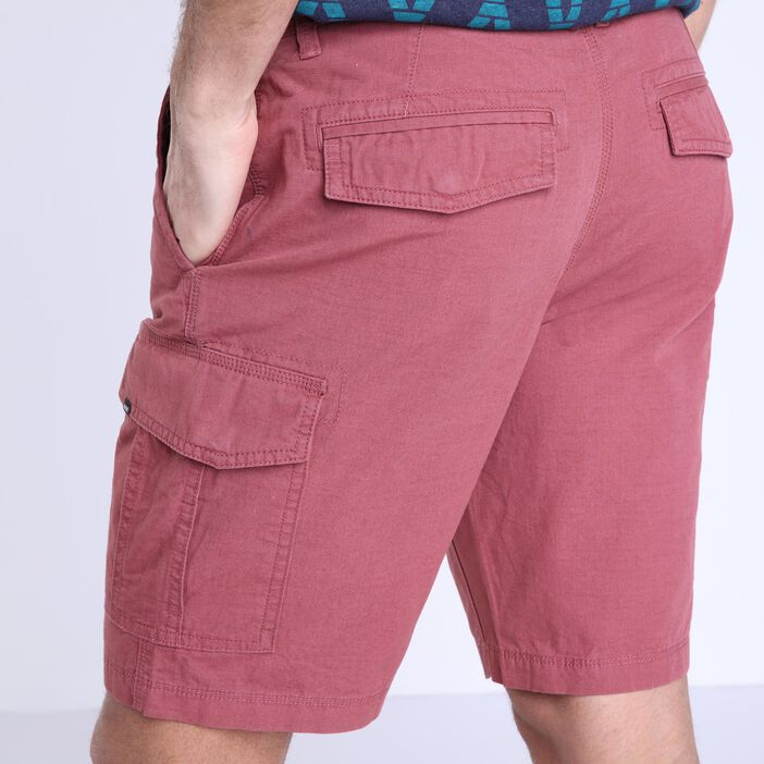 Bermuda droit taille standard vieux rose homme