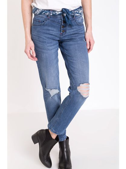 jeans regular femme instinct denim stone