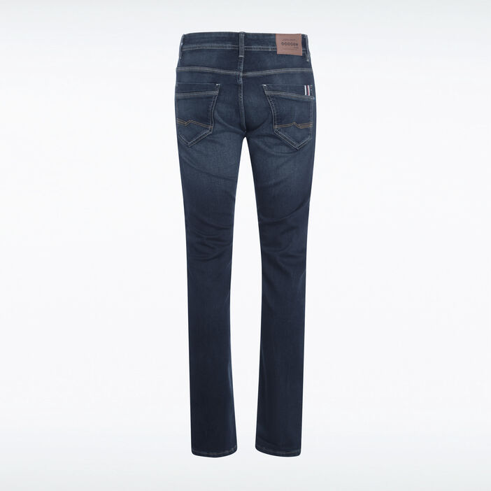 Jeans straight used denim brut homme