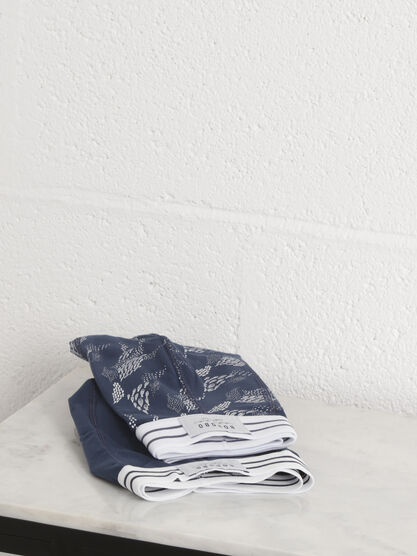 Pack 2 boxers bleu fonce homme
