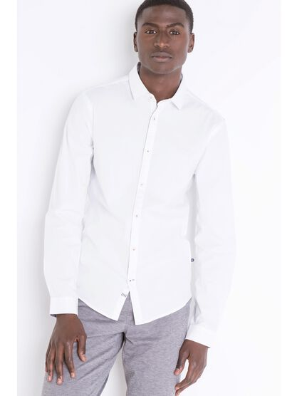 chemise super slim col simple blanc