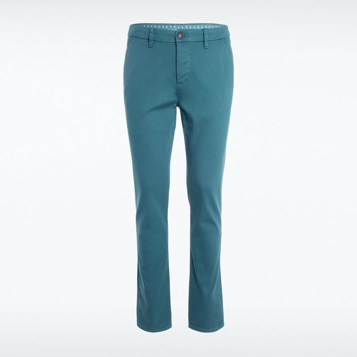 Pantalon chino regular homme Instinct VERT CANARD