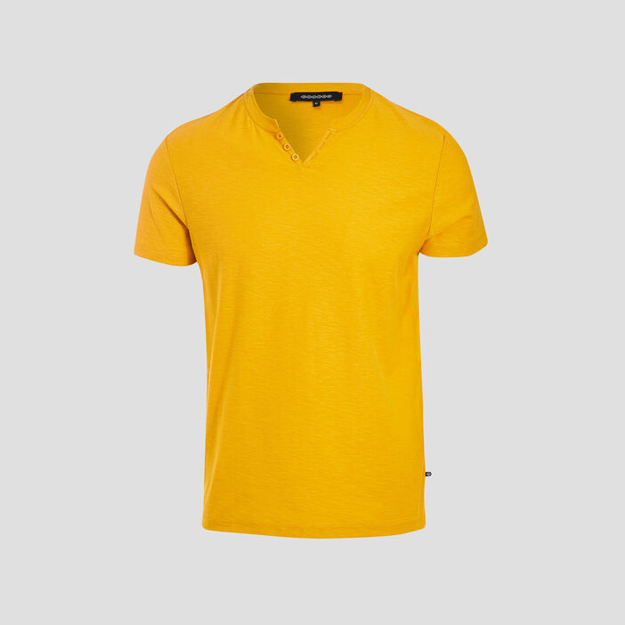 T-shirt manches courtes jaune or homme