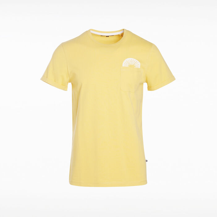 T-shirt manches courtes jaune moutarde homme
