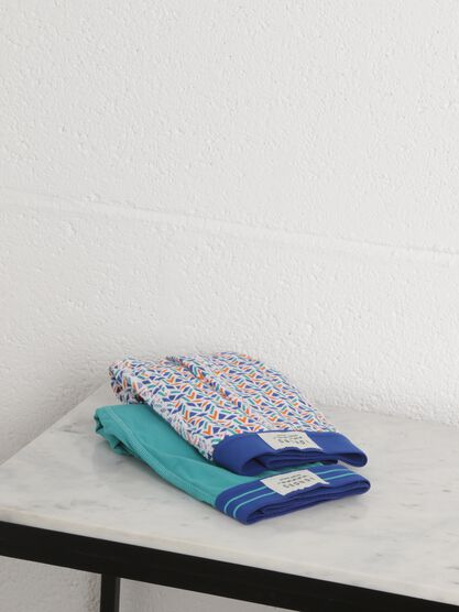 lot 2 boxers taille elastiquee blanc