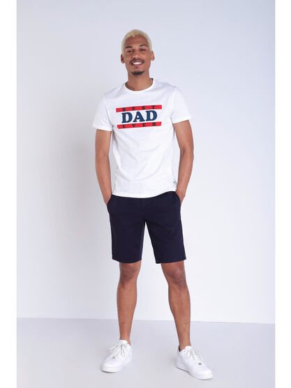 20f716f1ae3c5 Short court a cordons rayes bleu fonce homme