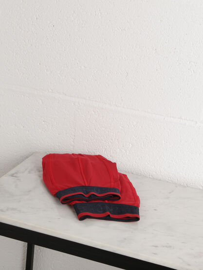 Lot 2 boxers coton stretch rouge homme