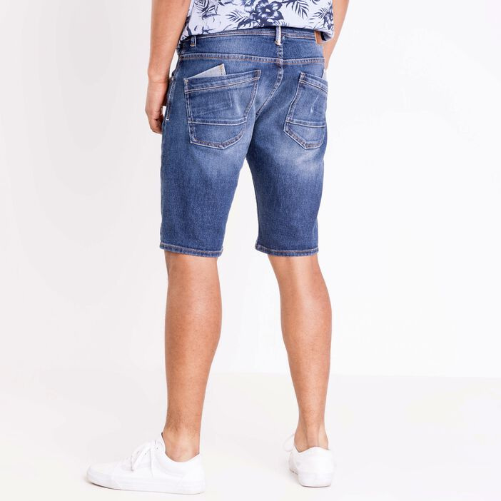 Bermuda denim used homme Instinct DENIM STONE