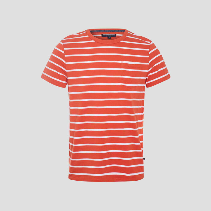 T-shirt éco-responsable orange homme