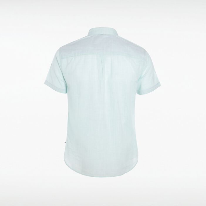 Chemise petit col homme manches courtes VERT TURQUOISE