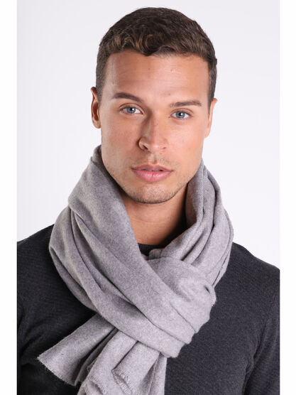 charpe gris fonce homme