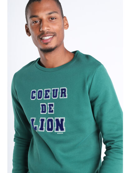 Sweat manches longues vert fonce homme