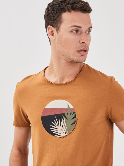 T shirt eco responsable beige homme