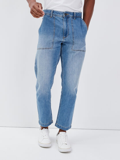 Jeans charpentier denim used homme