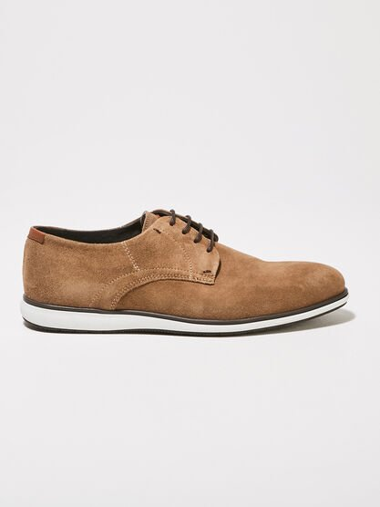 Derbies plates sable homme