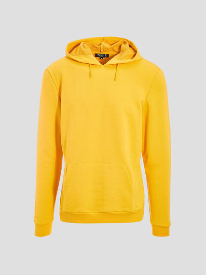 Sweat eco responsable jaune moutarde homme