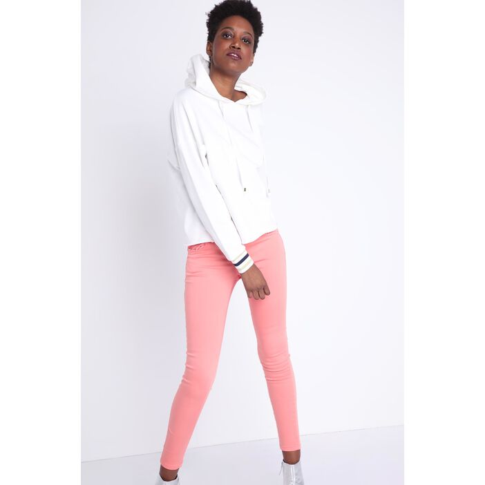 Pantalon skinny taille normale rose clair femme