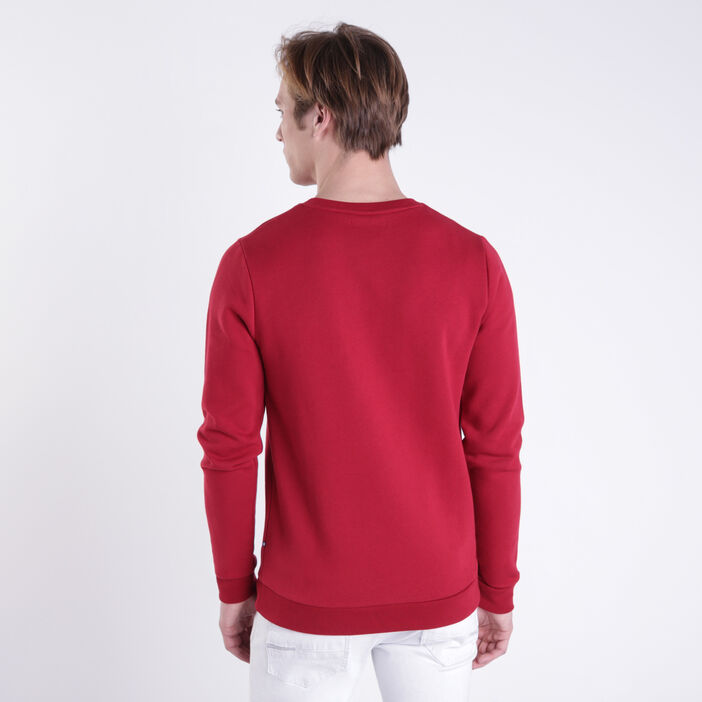 Sweat message rouge homme