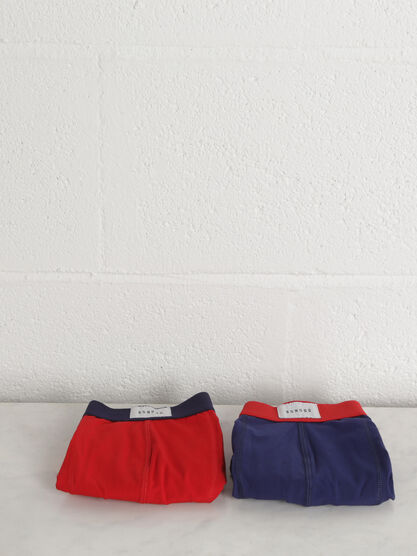 Pack 2 boxers rouge homme
