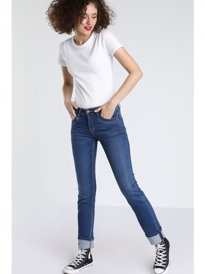 Jeans regular Instinct denim stone femme