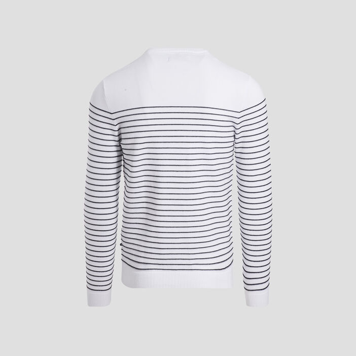 Pull manches longues blanc homme