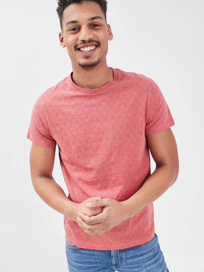 T shirt eco responsable rose homme