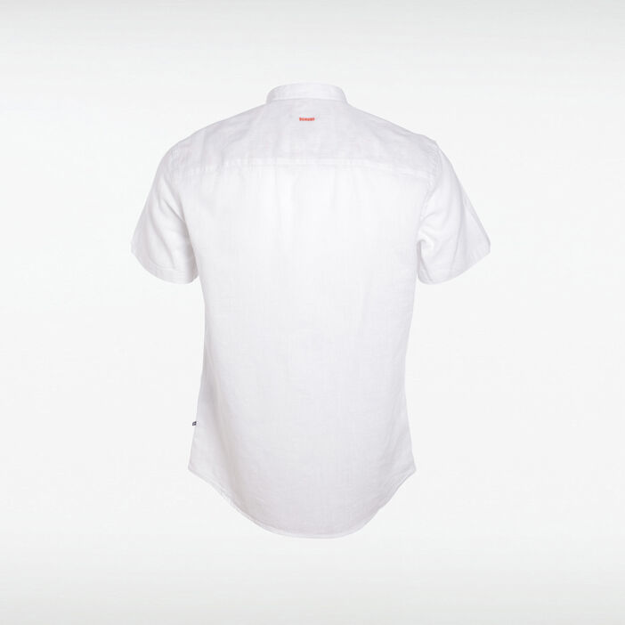 Chemise manches courtes blanc homme