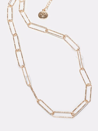 Collier chaine couleur or femme
