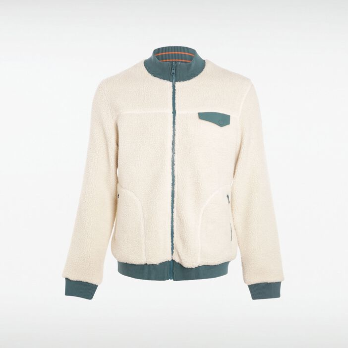 Gilet col montant homme maille sherpa BEIGE