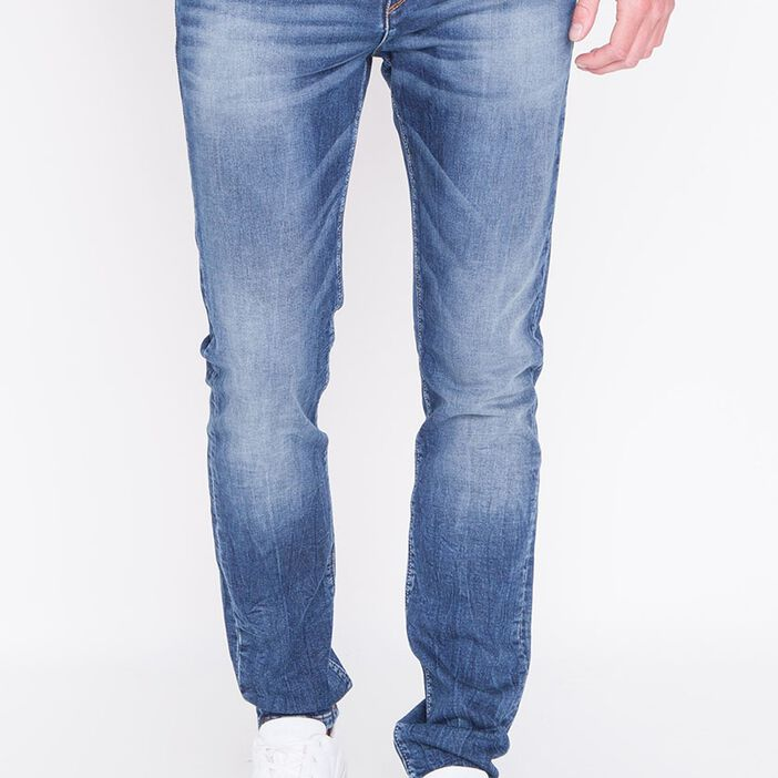 Jeans homme slim effet used DENIM STONE