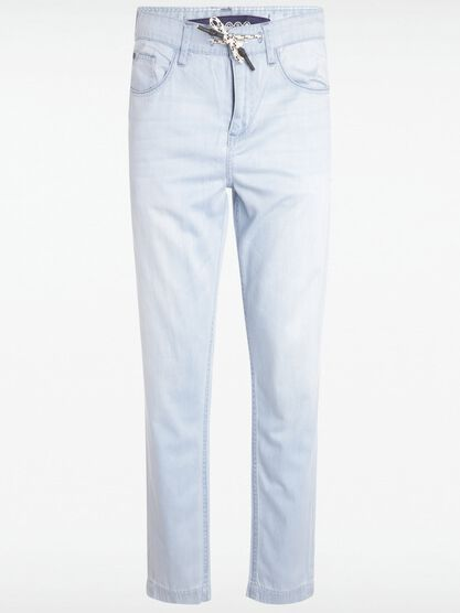 jean droit delave l34 denim bleach