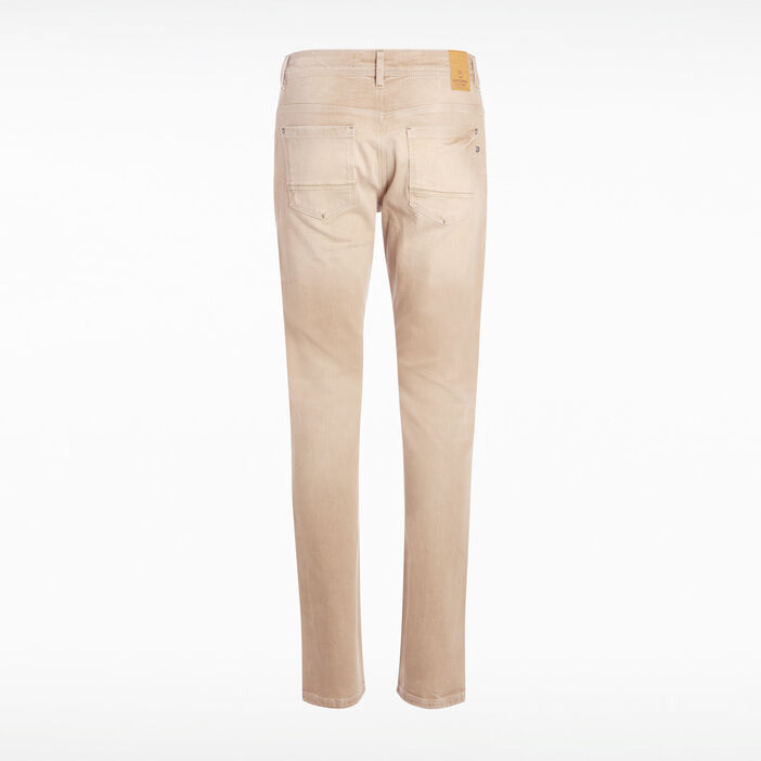 Jean straight camel homme