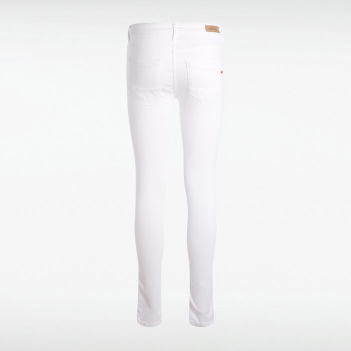 Jeans jegging skinny taille haute blanc femme