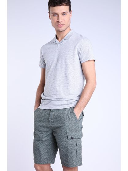 Polo basic gris fonce homme