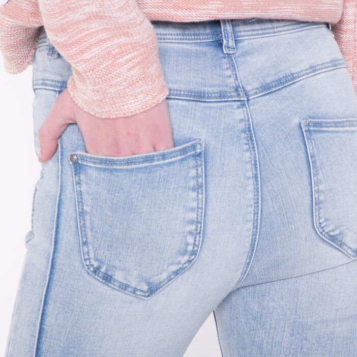 Jeans skinny femme taille haute coutures DENIM USED