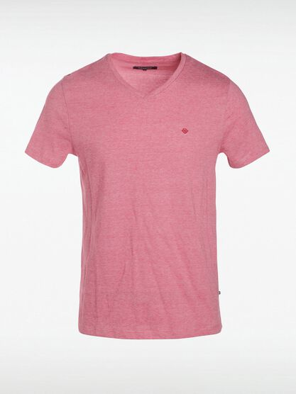 t shirt manches courtes homme rouge