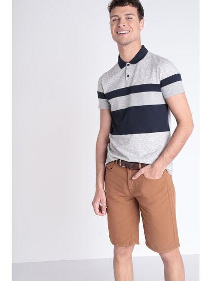 Polo gris clair homme