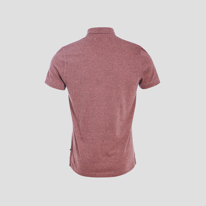 Polo éco-responsable rose homme